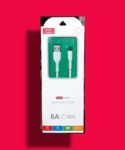 کابل 5 آمپر سوپر فست شارژ ( micro-usb)
